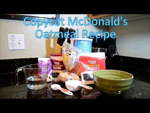 Copycat McDonald's Oatmeal Recipe