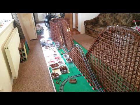 LEGO Roller Coaster under construction 2