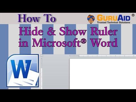 How to Hide & Show Ruler in Microsoft® Word - GuruAid