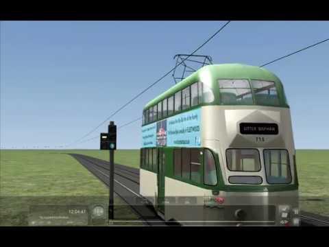 Signalling test Blackpool Tramway Train Simulator 2017