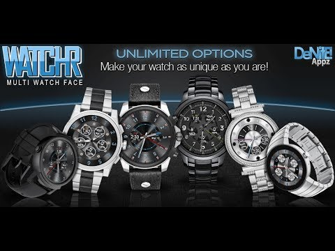 WatchR - Multi Watch Face & Clock Widget - Promo Video
