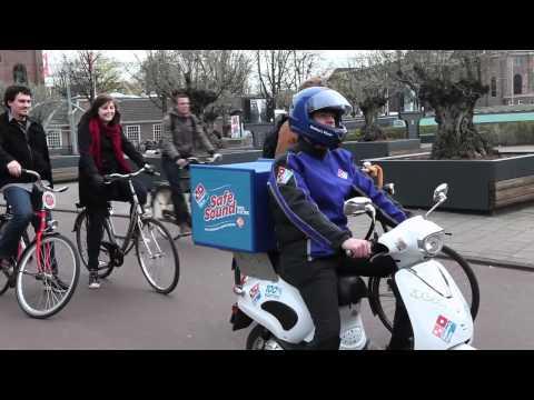 Domino's Pizza Safe Sound - Menselijk motorgeluid voor elektrische scooter