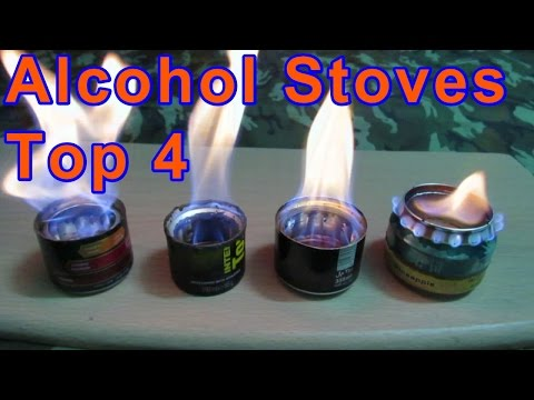 My DIY Alcohol Stoves Test - Four Different Designs w/ Specs  | Beverage Cans