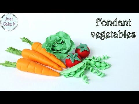 How to make fondant vegetables / Jak zrobić warzywa z masy cukrowej
