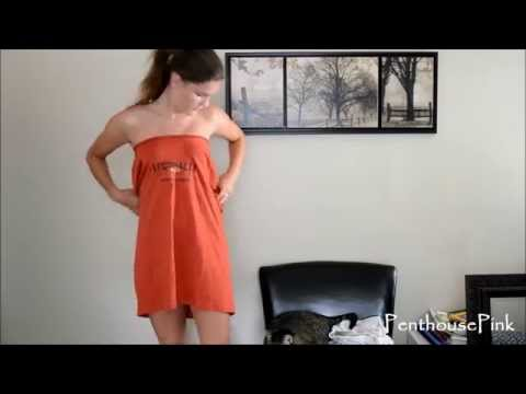HOW TO MAKE YOUR OWN DRESS USING A T-SHIRT!!