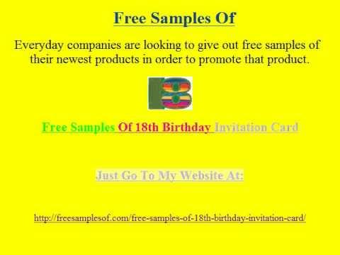Free Samples Of 18th Birthday Invitation Card 2