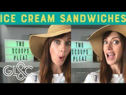 Salted Caramel Popcorn Ice Cream Sandwiches | GLAC