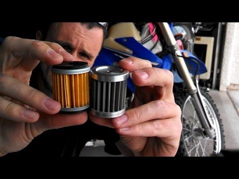 Paper VS Stainless Steel reusable motorcycle Oil Filter