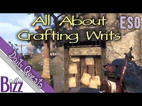 ESO Crafting Writs Guide - Elder Scrolls Online Crafting Writs! Daily Crafting Quest