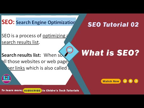 SEO - 02 - What is Search Engine Optimization