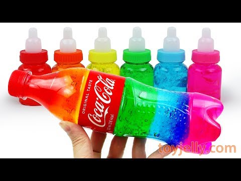 Making Giant Jelly Coca Cola Bottle with Slime Clay Learn Colors Baby Finger Song Nursery Rhymes