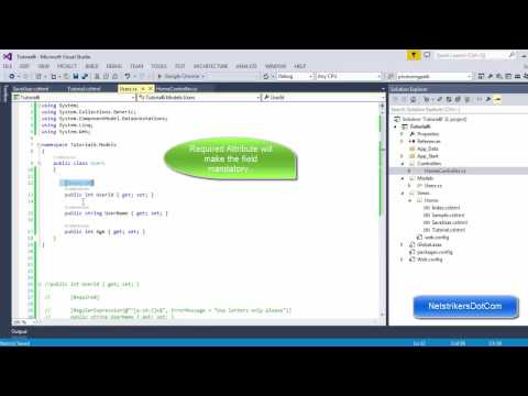ASP.NET MVC Tutorial #7 - Using Data Annotations (Part 1)