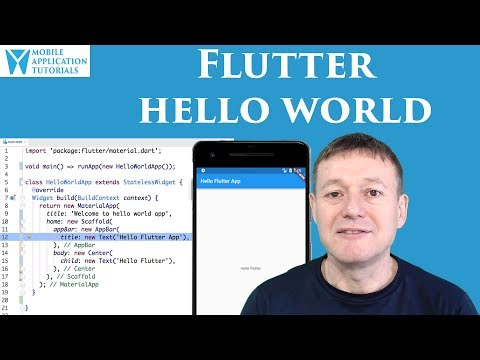 Flutter Hello World development tutorial
