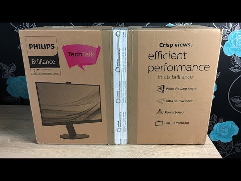 Philips 4K UHD 27in 272P7V LCD Monitor Unboxing & Setup