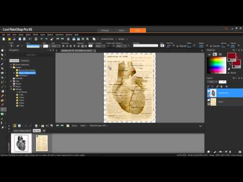 Creating a Multi-Layer Artistic Poster in Corel PaintShop Pro X6