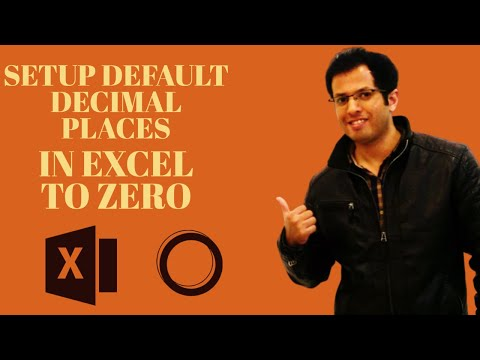 How to Setup Default Decimal Places in Excel to Zero