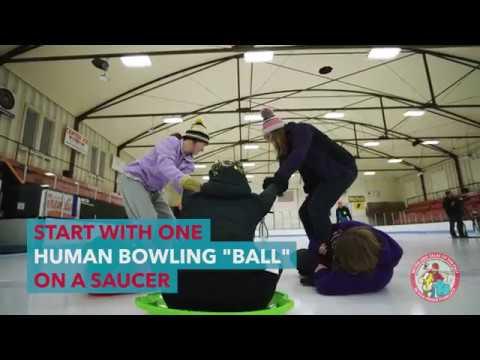 Human Ice Bowling
