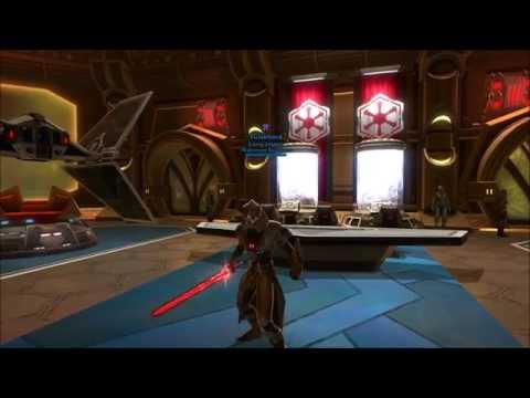 SWTOR Volatile Conqueror's Lightsaber with Red-Black Color Crystal.