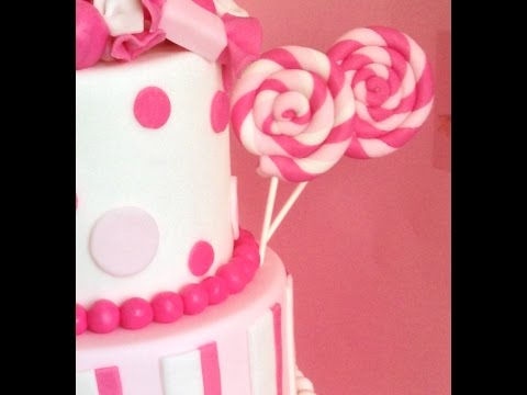How to make lollipops fondant - Candy Cake