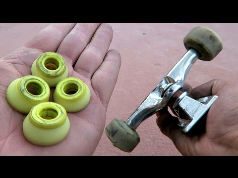 STOCK SKATEBOARD BUSHINGS vs BONES SKATE BUSHINGS