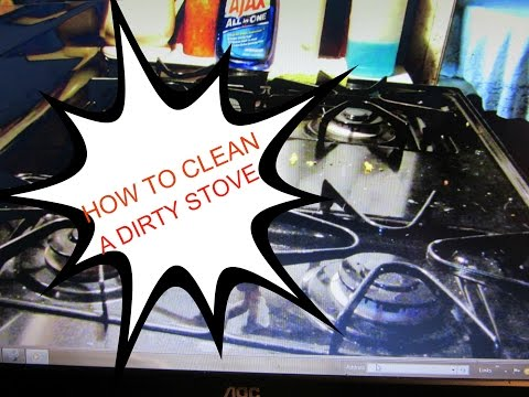 HOW TO CLEAN A DIRTY BLACK STOVE W/NO STREAKS