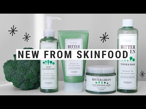 NEW SKINCARE from SKINFOOD!  bitter green review!