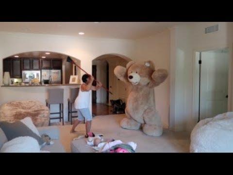 HUGE TEDDY BEAR PRANK ON GRANDMA!!!