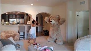 Huge Teddy Bear Prank On Grandma