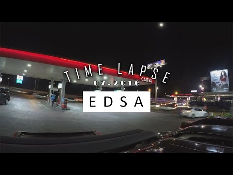 Awesome EDSA Light Trails | Sample Time Lapse | GoPro Hero 4 Silver | 4k