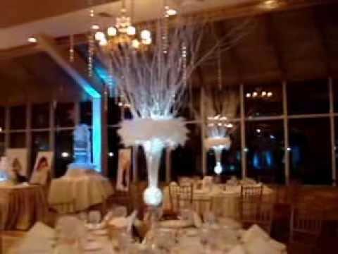 Winter Wonderland Themed Centerpieces & Sweet 16 Candelabra at The Venetian Yacht Club, Babylon NY