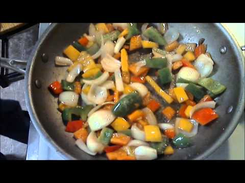 Cooking Smoked Sausage in Italian Dressing with Peppers and Onions