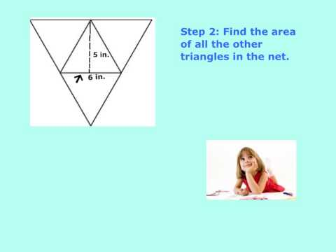 Geometry: Surface Area Of A Triangular Pyramid