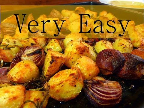 Greek Style Potatoes and Onions (Very Easy)