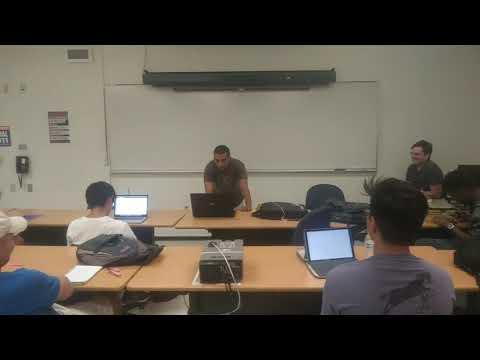 Nir raps in Professor Wiegley's class @ CSUN! COMP122