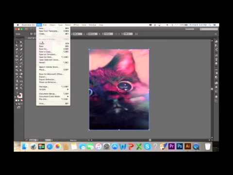 Flattening an Image in Illustrator