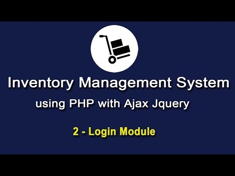 Inventory System in PHP using Ajax Jquery - Login & Database