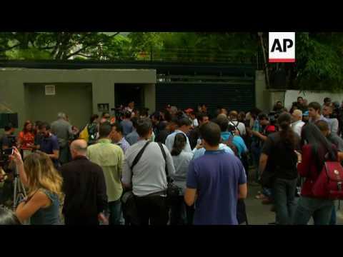 Crowds gather as Lopez put under house arrest