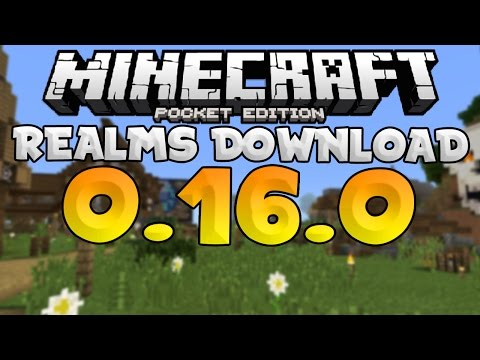 MCPE 0.16.0 UPDATE - REALMS SMP WORLD DOWNLOAD!!