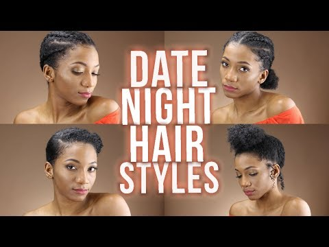 EASY NATURAL HAIRSTYLES YOU CAN WEAR ON A DATE (2018) | Annesha Adams