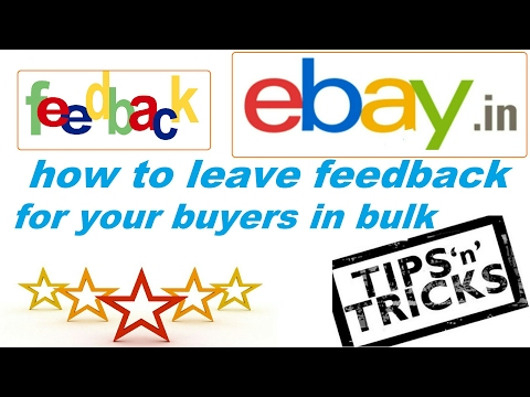 How to leave feedback for buyer in bulk (ebay selling tips 2017 hindi)