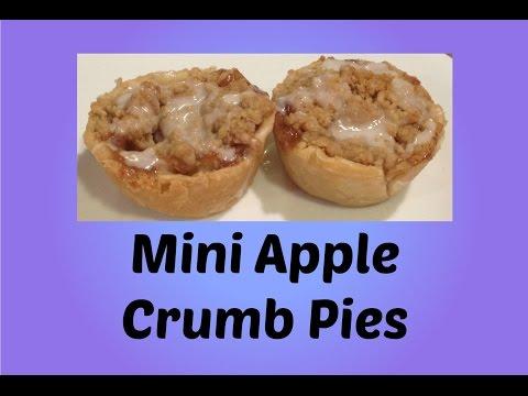 Mini APPLE CRUMB PIES in a Muffin Tin!