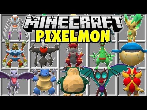Minecraft PIXELMON MOD | POKEMON, LEGENDARIES, MEGA EVOLUTIONS!!