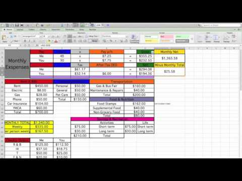 Making a Household Budget Using Excel
