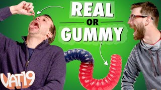 Download We Ate Worms, Brains, and Hair! | Gummy VS Real Challenge #1