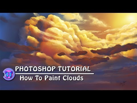 Photoshop Tutorial : How To Paint Clouds For Beginners