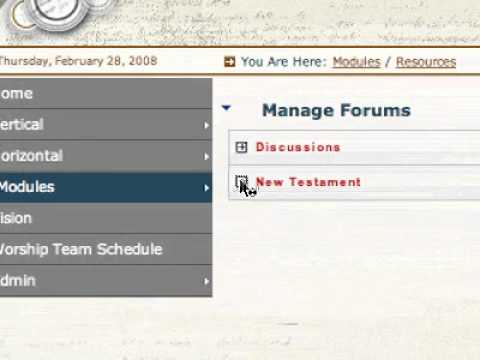 Organizing the Church Forum feature