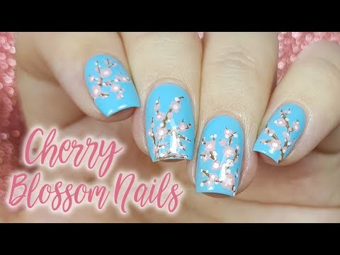Easy Cherry Blossom Nails For Spring
