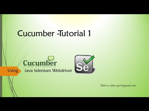 Cucumber configuration in Eclipse with Selenium Webdriver