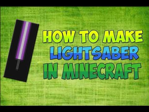 Minecraft | How to make a lightsaber banner
