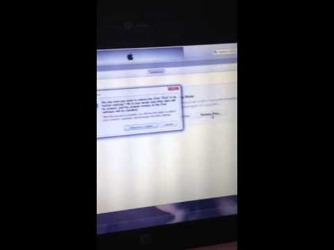 Ipod touch 1st gen cant restore